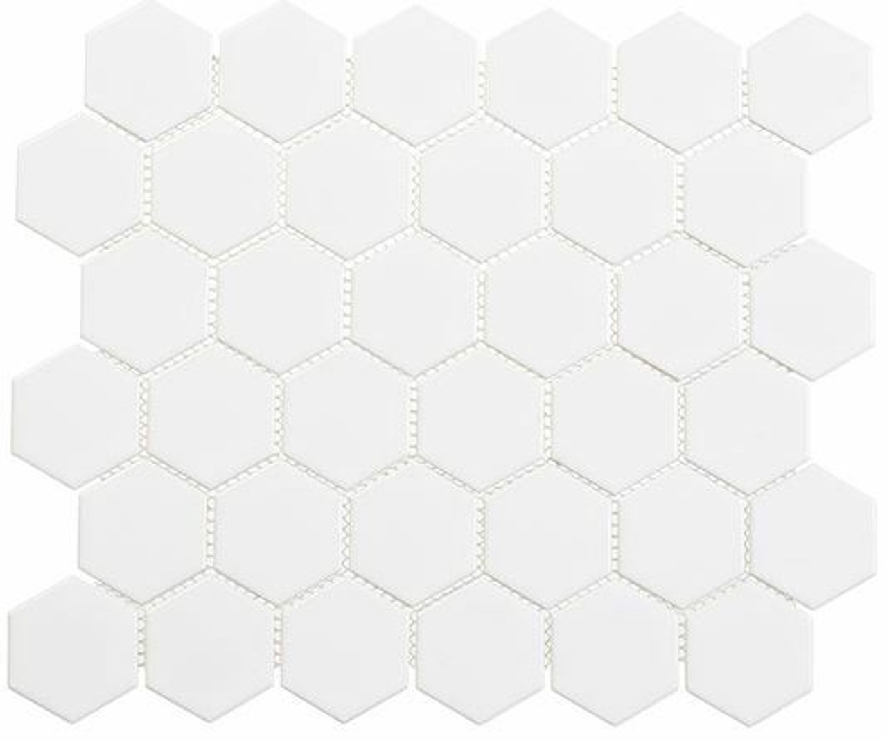 Bella Glass Tiles Freedom Avenue 2 inch Hexagon United Dove FDM1821