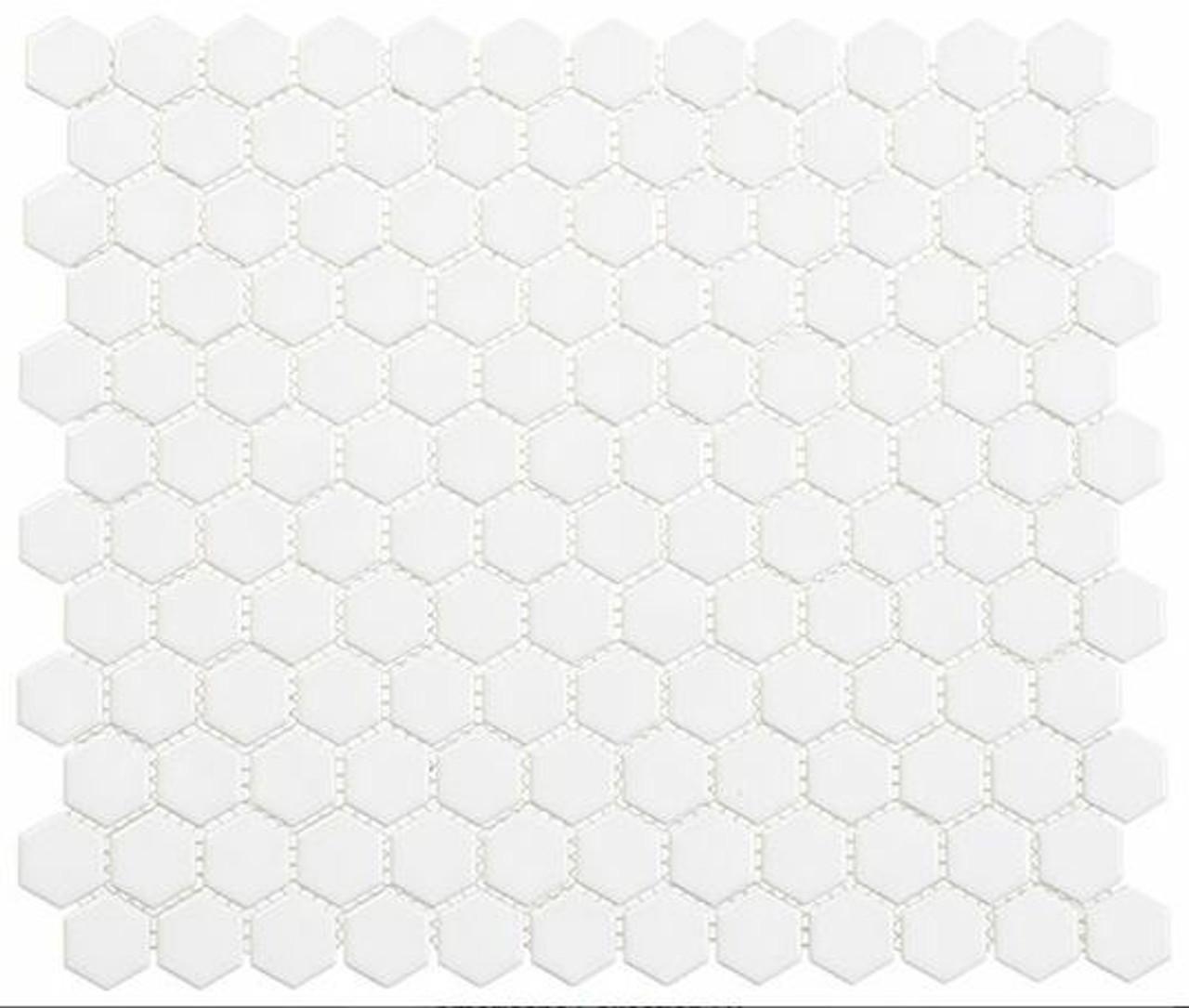Bella Glass Tiles Freedom Avenue Hexagon United Dove FDM1811