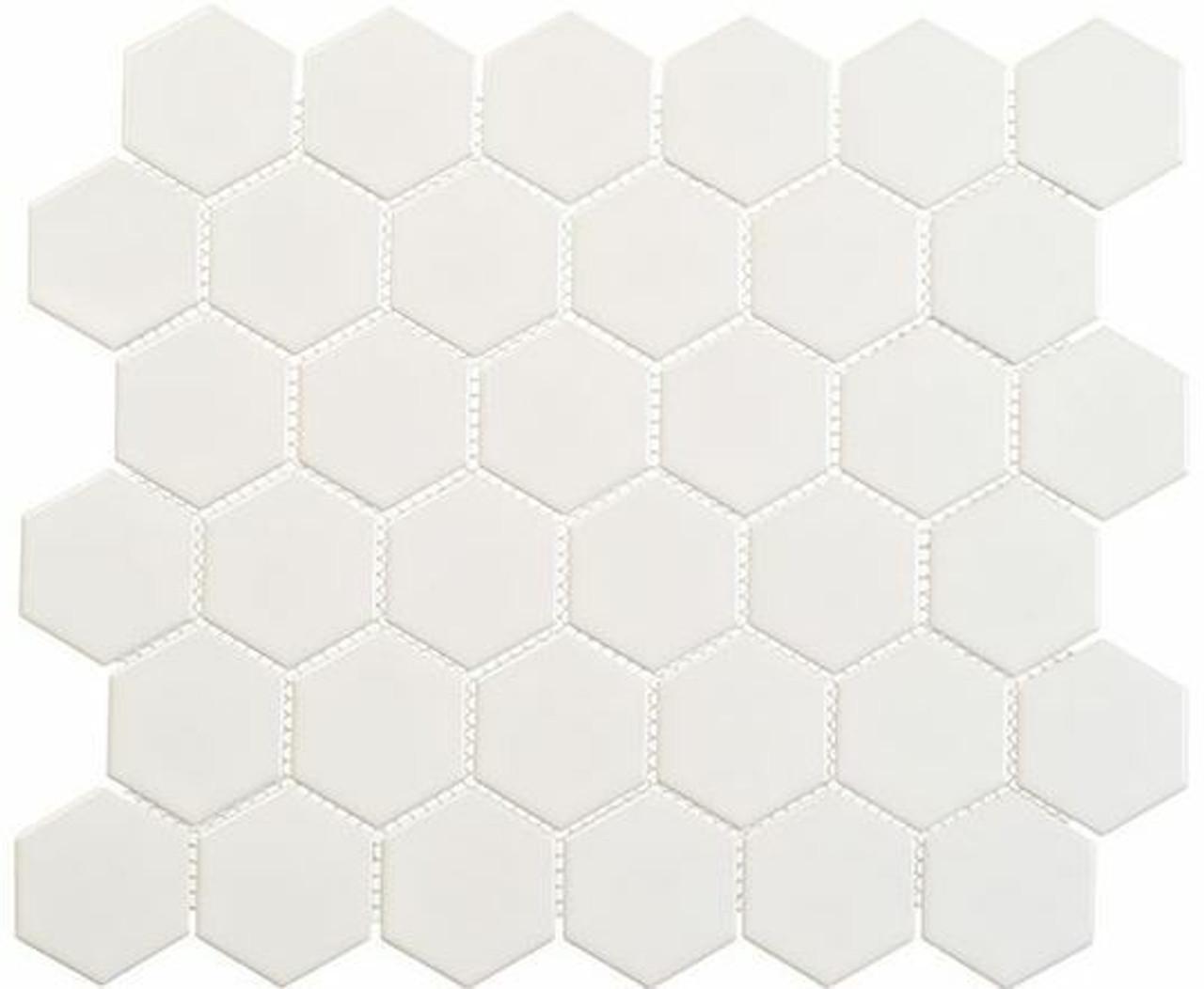 Bella Glass Tiles Freedom Avenue 2 inch Hexagon Pillar Shine FDM1823