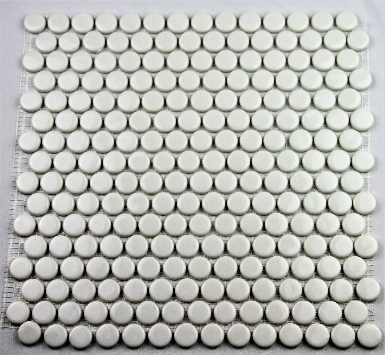 Bella Glass Tiles Hearth Palace Penny Round Shiny White HP1PRSW