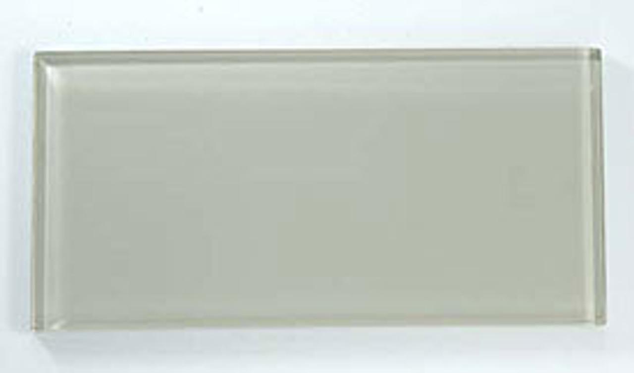 Bella Glass Tiles Crystile Series 3 x 6 Subway Fog C03-1
