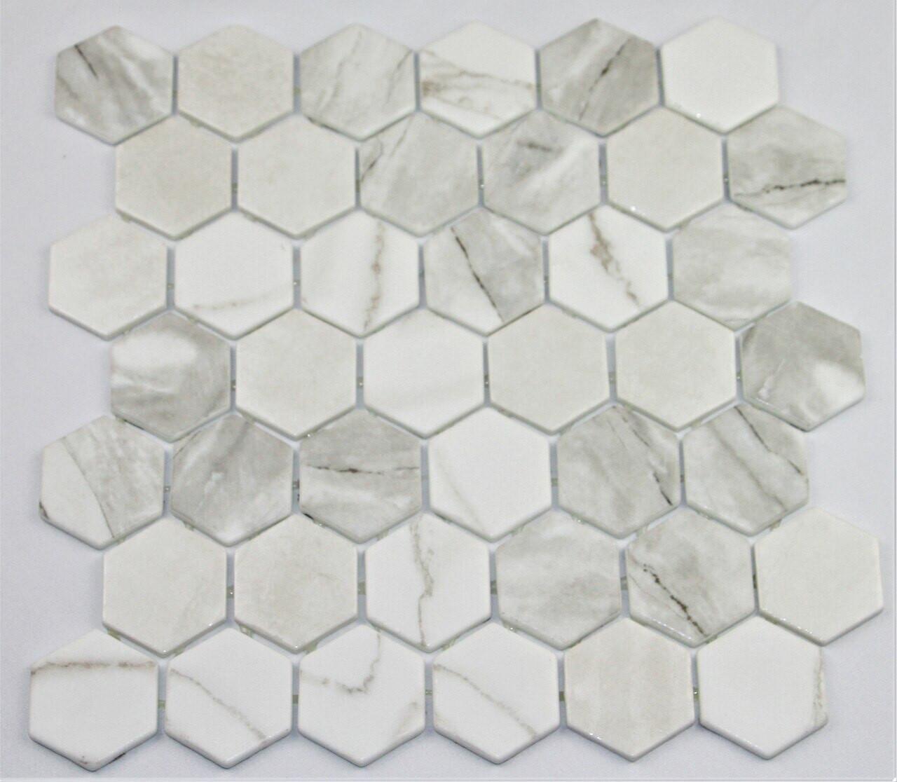 Bella Glass Tiles Hearth Palace Hexagon Zelik HP2HBZ