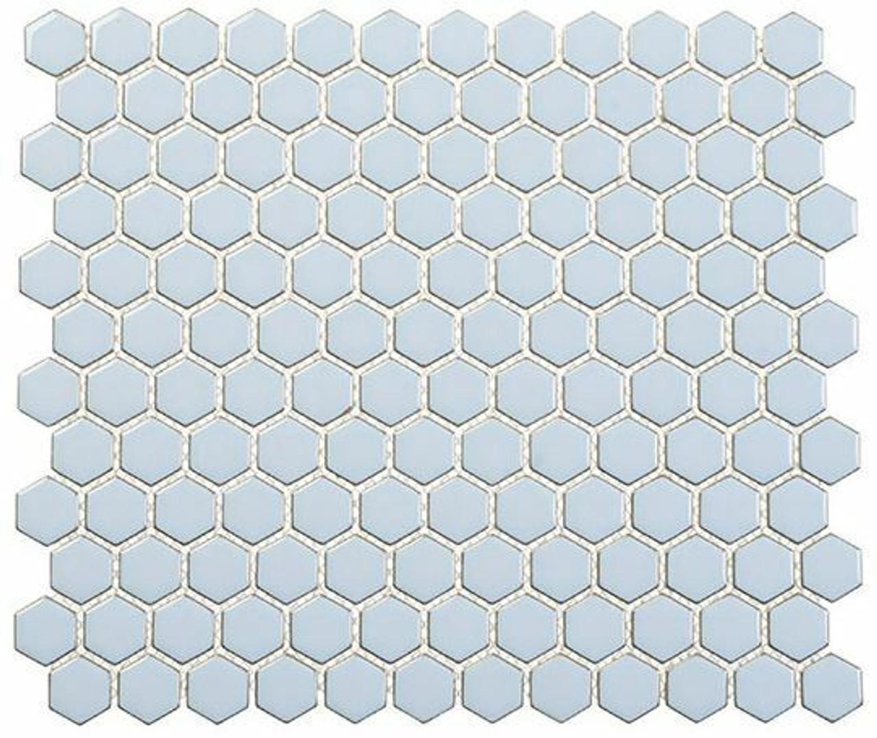 Bella Glass Tiles Effortless Series Hexagon Kool Vibe EFT8913