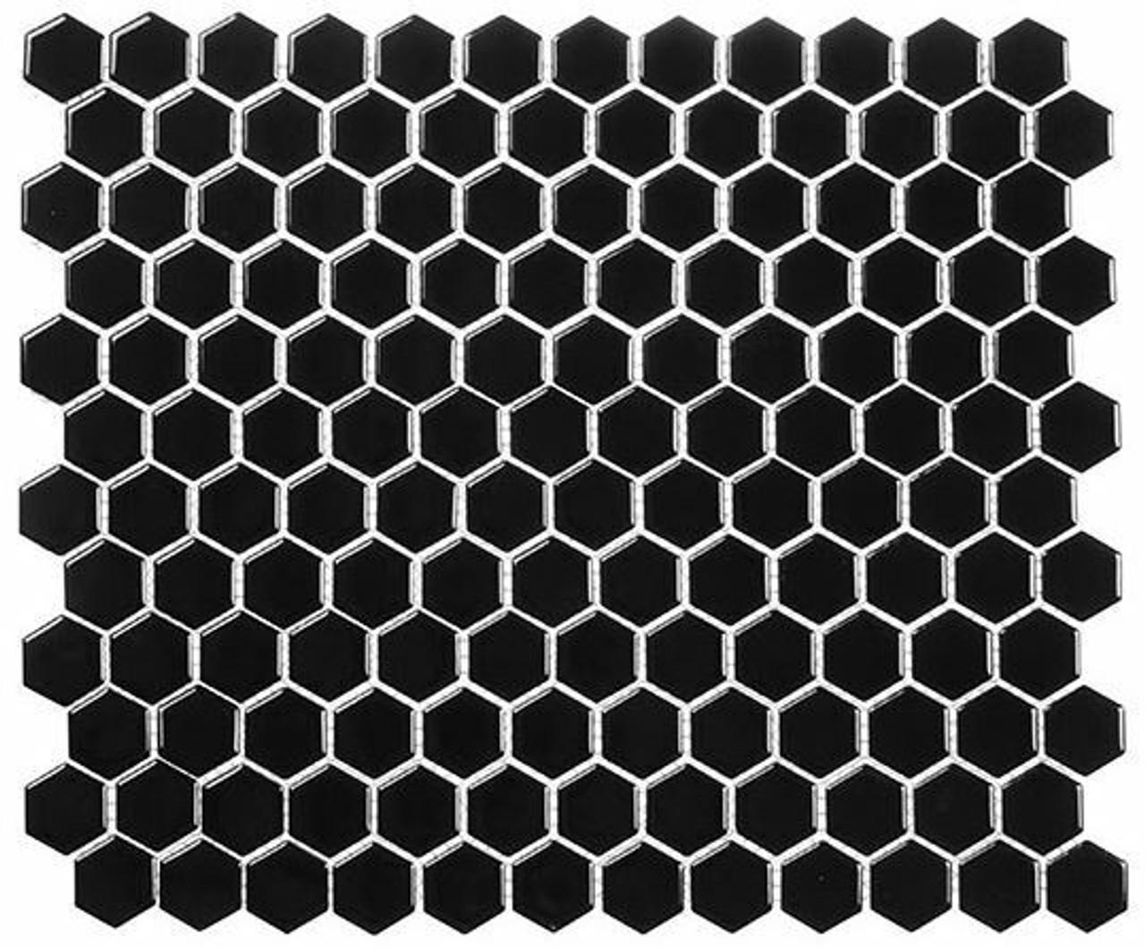 Bella Glass Tiles Freedom Avenue Hexagon Moonlithe FDM1814