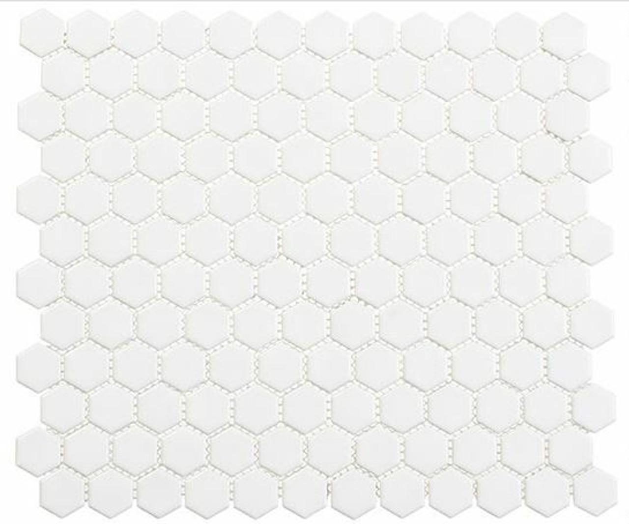 Bella Glass Tiles Freedom Avenue Hexagon Liberty Pure FDM1815