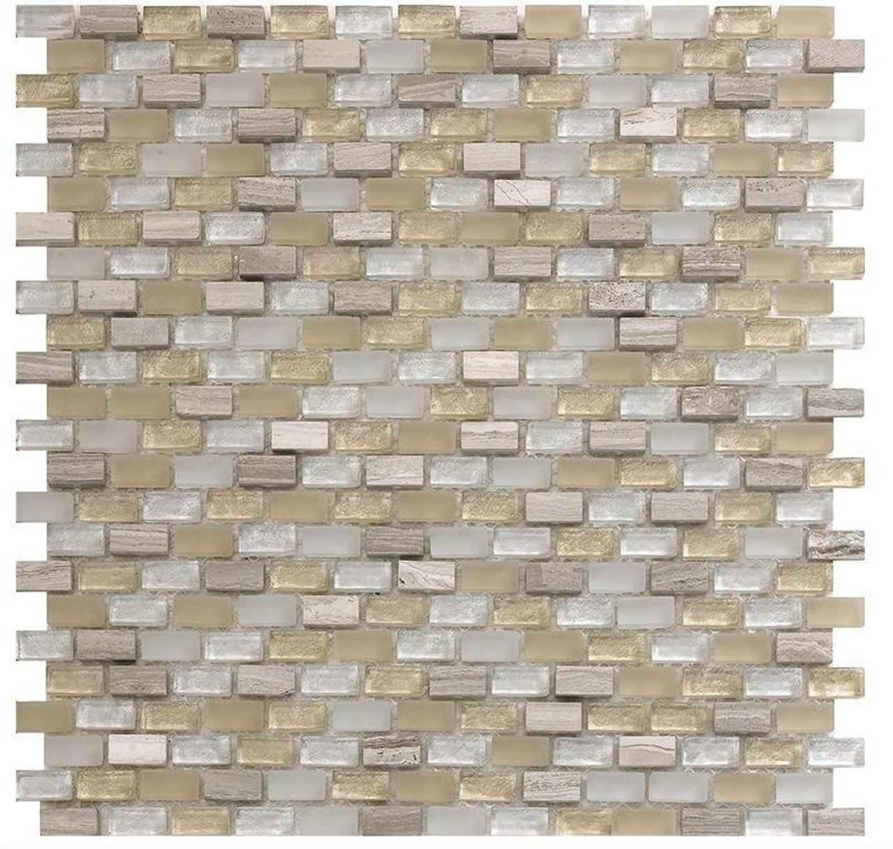 My Tile Backsplash Bello Series Sand Mini Brick Mosaic MTB100