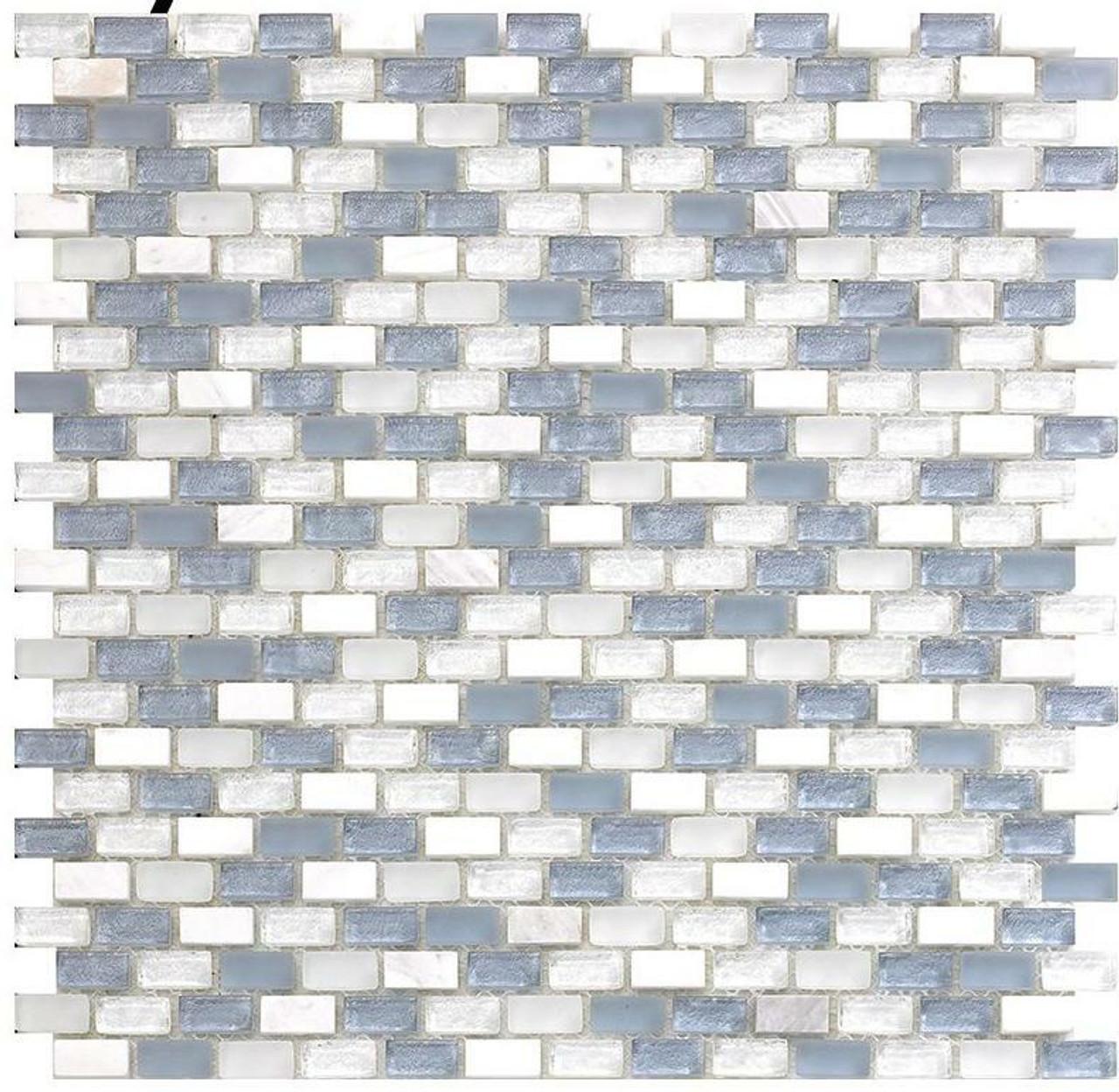 My Tile Backsplash Bello Series Sky Mini Brick Mosaic MTB104