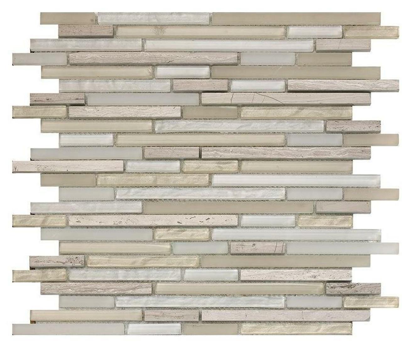 My Tile Backsplash Bello Series Sand Pixie Stix Mosaic MTB110