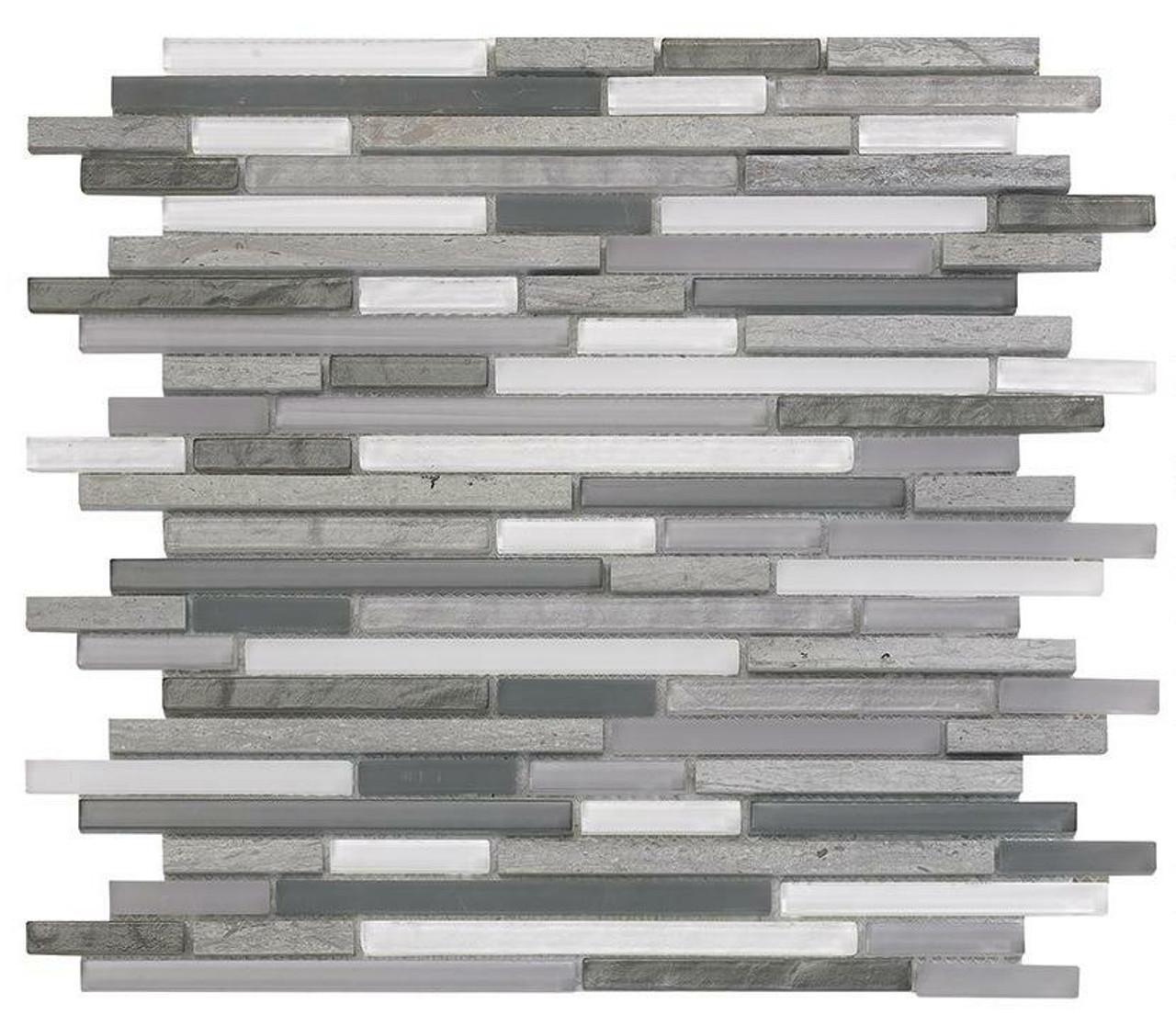 My Tile Backsplash Bello Series Dusk Pixie Stix Mosaic MTB111