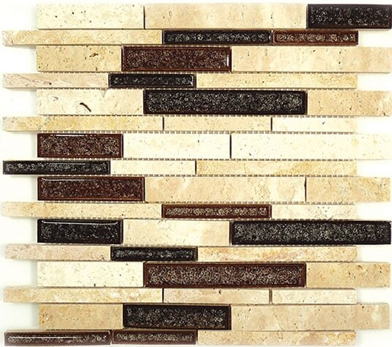 Bella Glass Tiles Tranquil Random Brick Series Arizona Scape