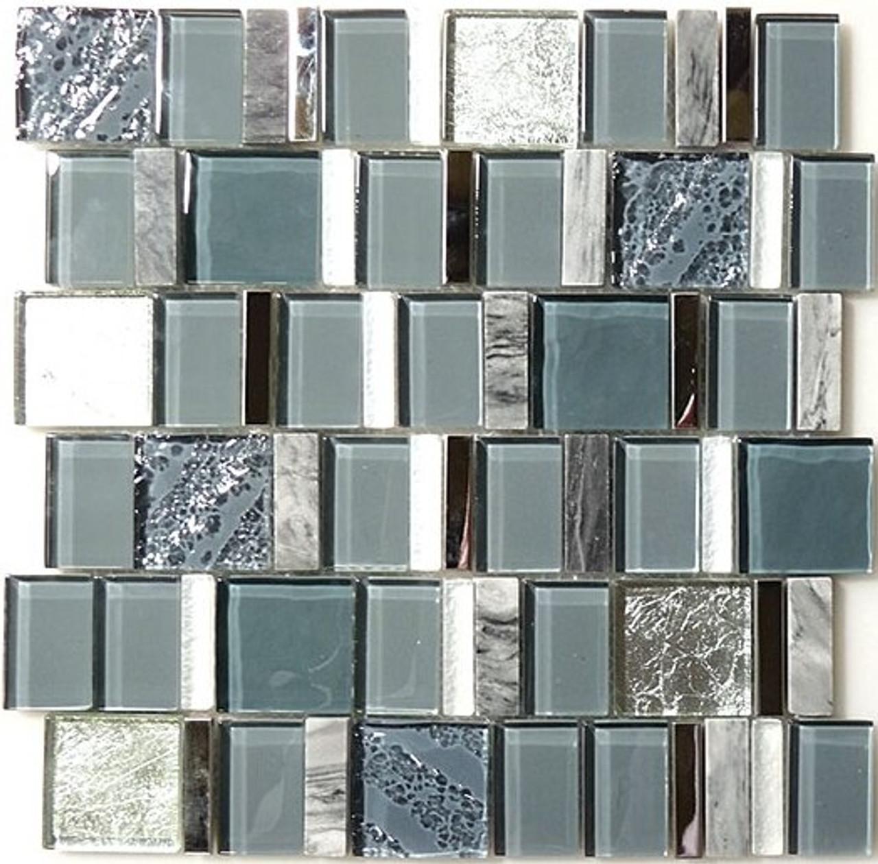 Bella Glass Tiles Academia Series Oceanic Cerulean