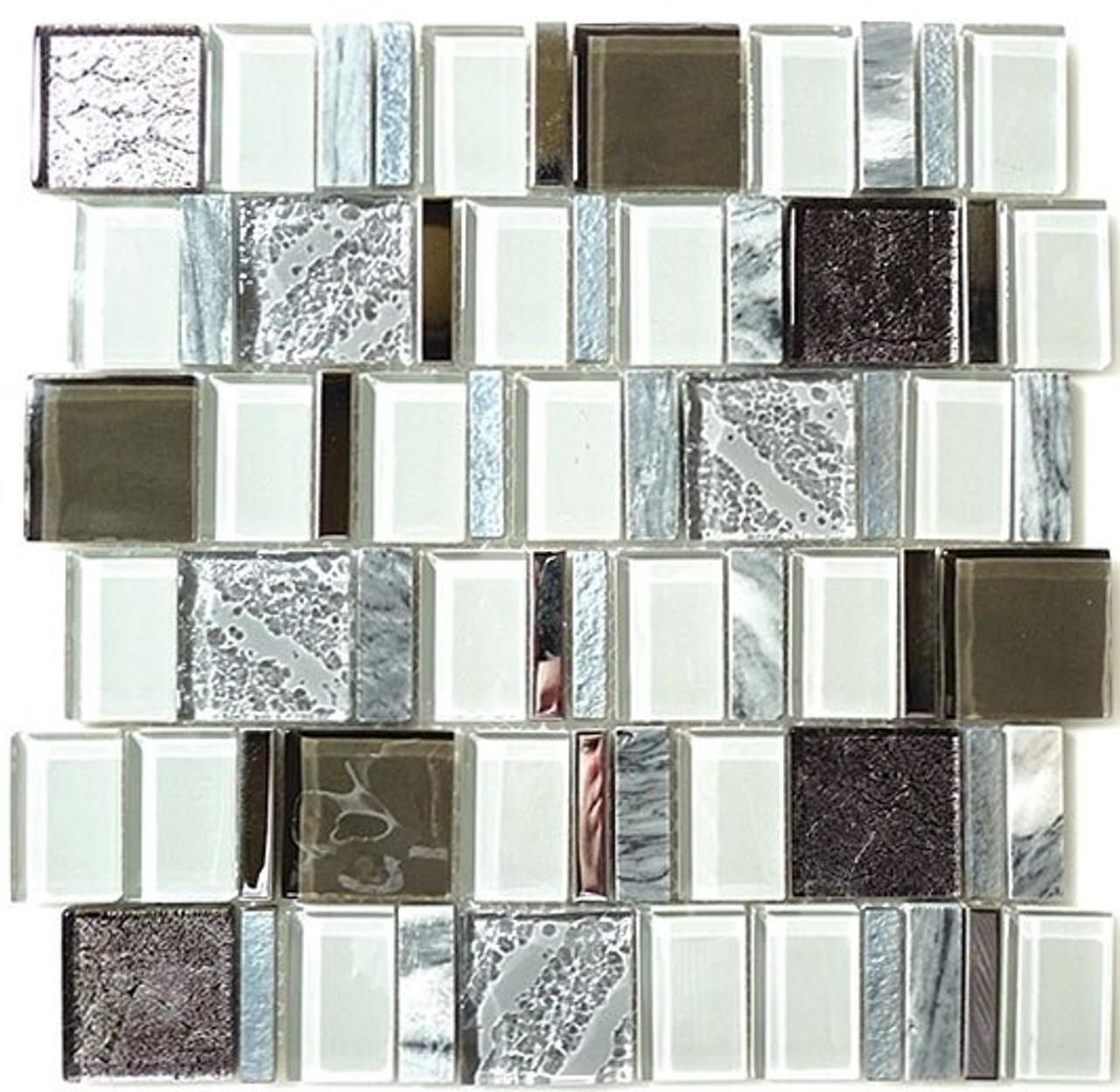 Bella Glass Tiles Academia Series Evolution Grey AS-77