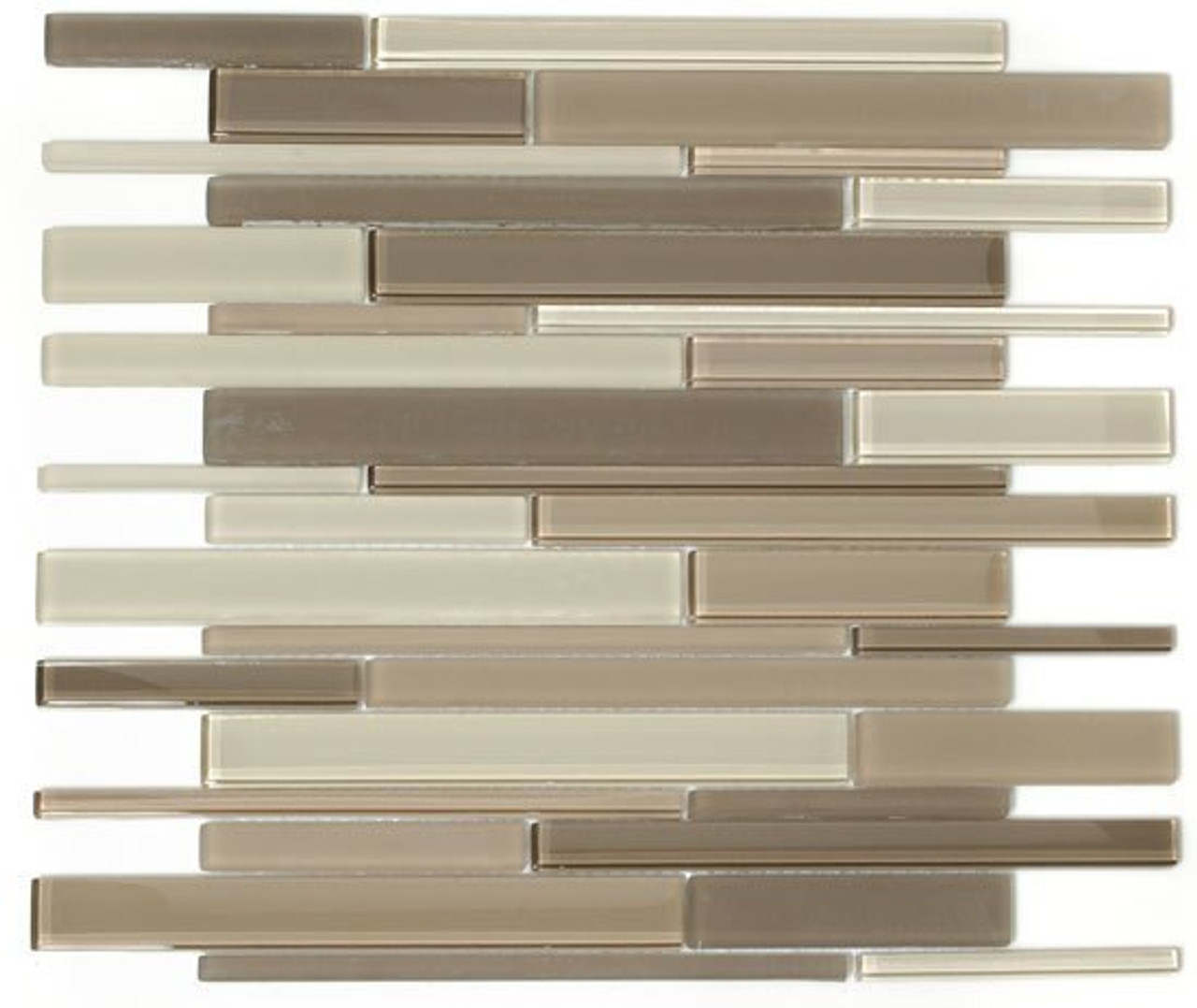 Bella Glass Tiles Cane Series Blend Glass Tiles CNB31 Creek Bed