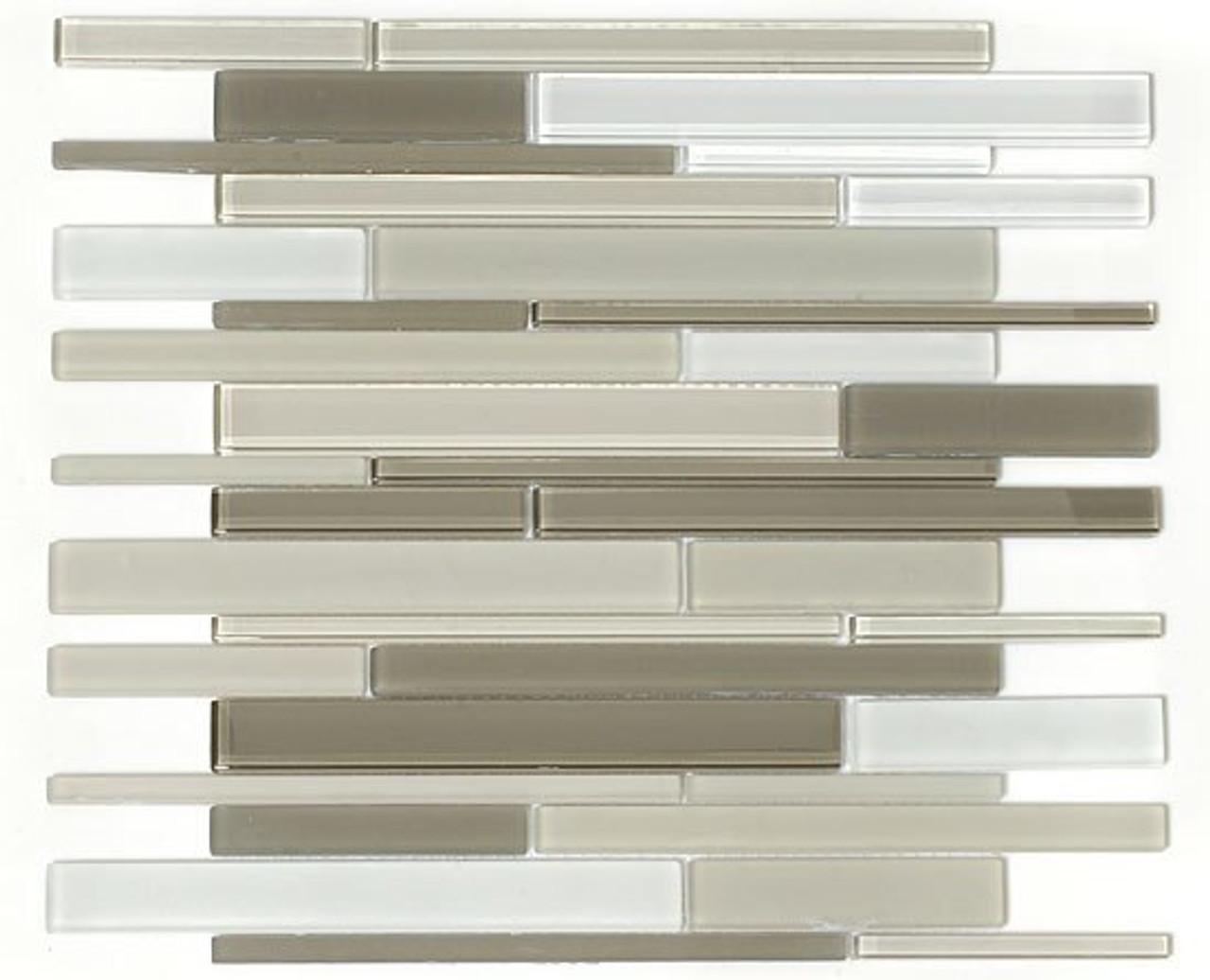 Bella Glass Tiles Cane Series Blend Glass Tiles CNB33 Cypress Green