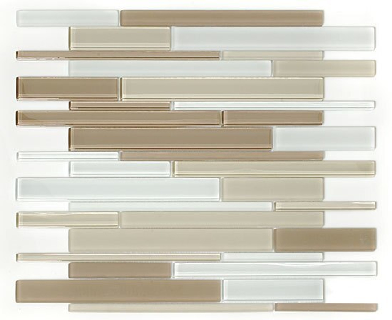 Bella Glass Tiles Cane Series Blend Glass Tiles CNB34 Marble Canyon