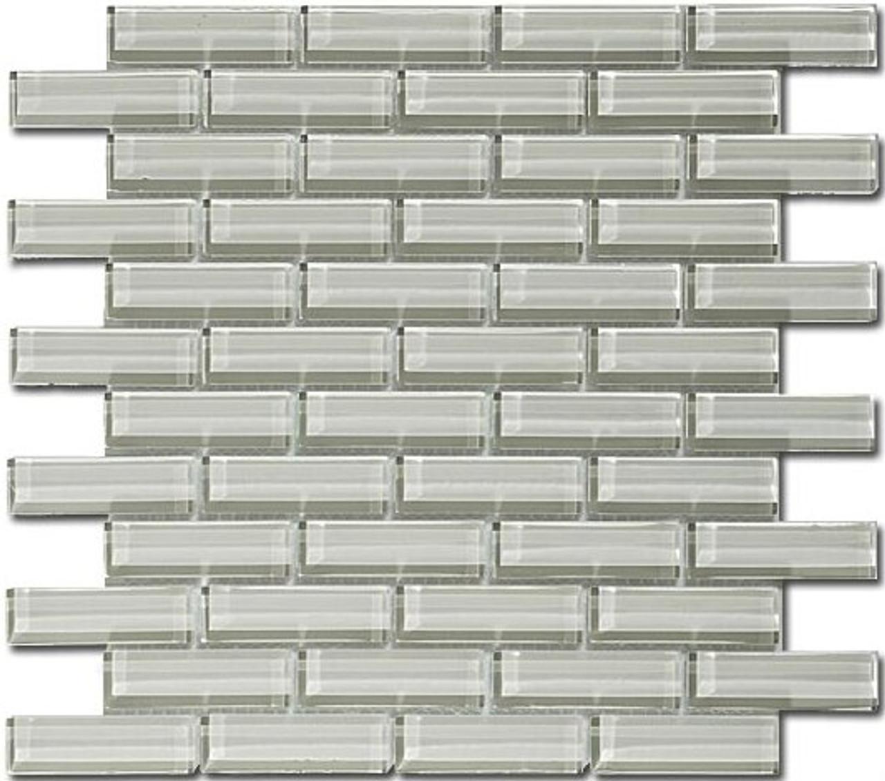 Bella Glass Tiles Crystile Series 1 x 3 Fog