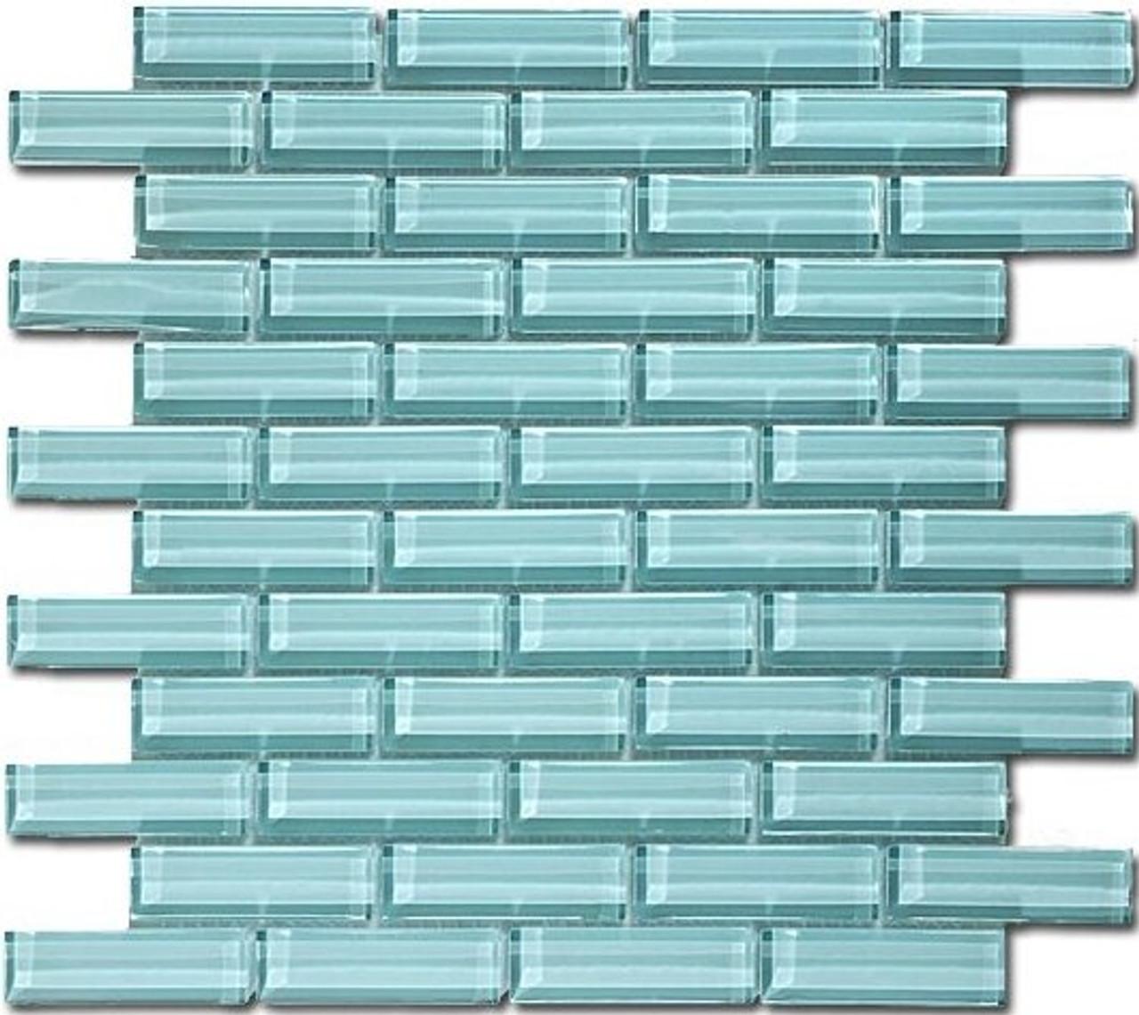 Bella Glass Tiles Crystile Series 1 x 3 Morning Mist C11-2