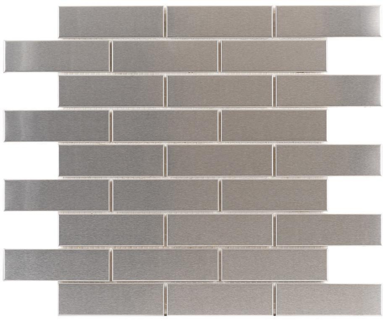 UBC Stainless Steel Tile Backsplash 1 x 4 Mosaic