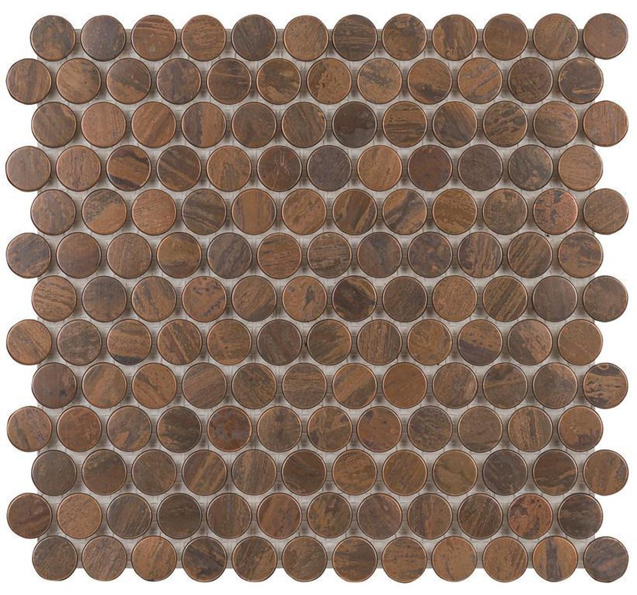 UBC Antique Copper Tile Backsplash Nickels Mosaic