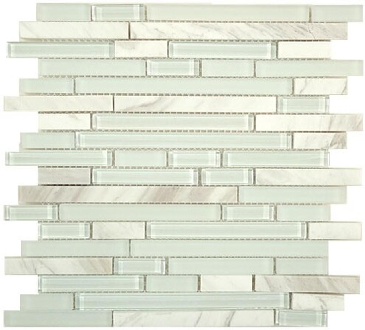 Bella Glass Tiles Random Brick Series SES03 Moonscape