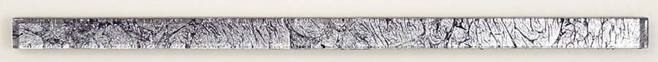 Bella Glass Tiles Crystile Glass Liner Bar Silver Crest