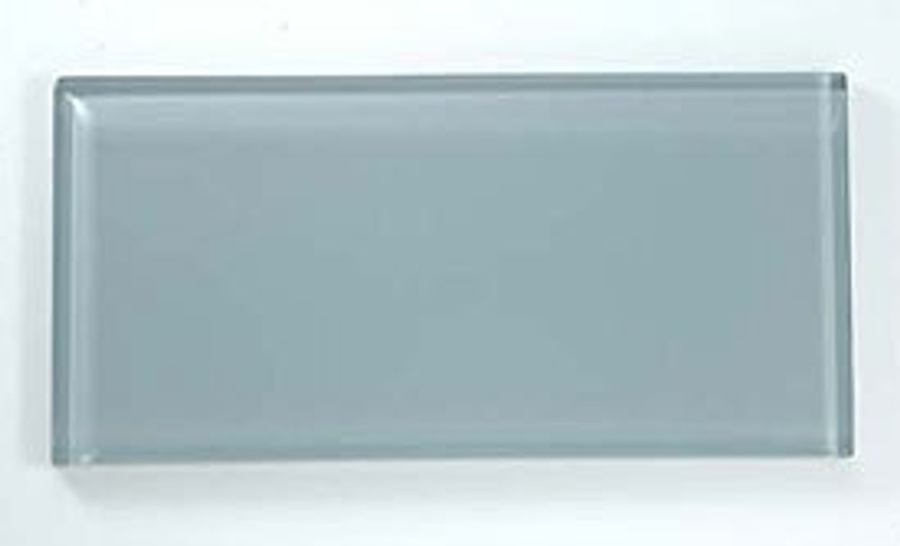 Bella Glass Tiles Crystile Series 3 x 6 Subway Gray Sky