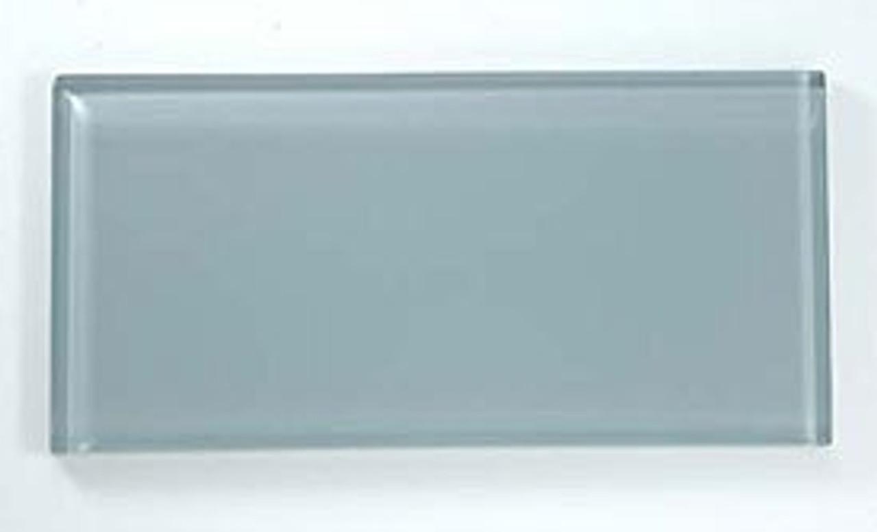 Bella Glass Tiles Crystile Series 3 x 6 Subway Gray Sky C07-1