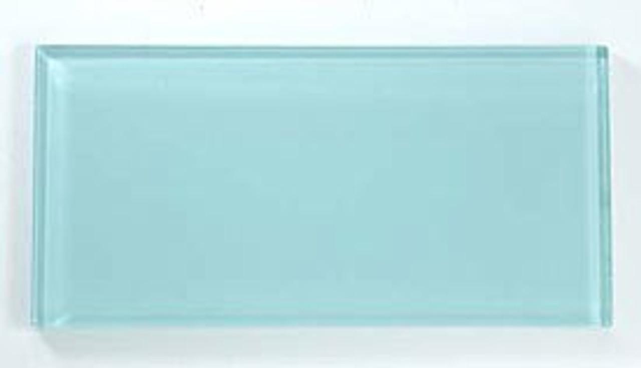 Bella Glass Tiles Crystile Series 3 x 6 Subway Soft Mint