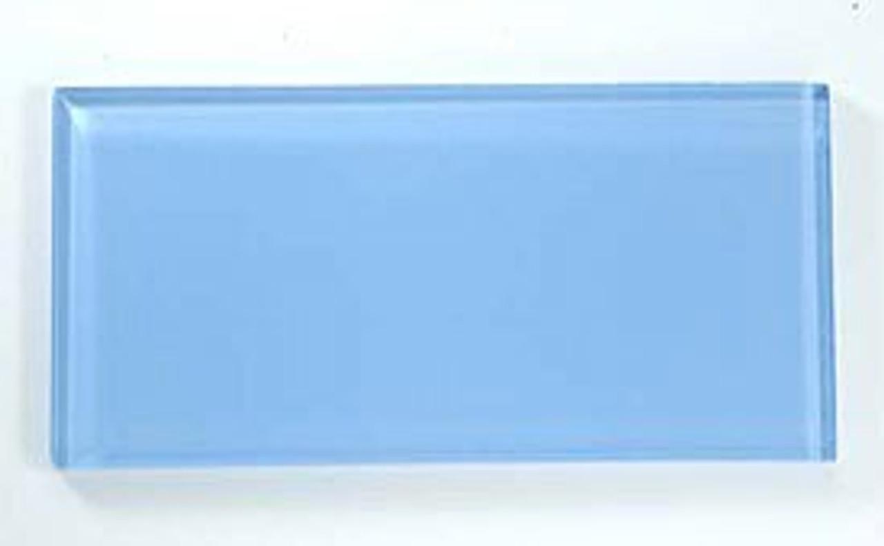 Bella Glass Tiles Crystile Series 3 x 6 Subway Pacific Ocean C10-1
