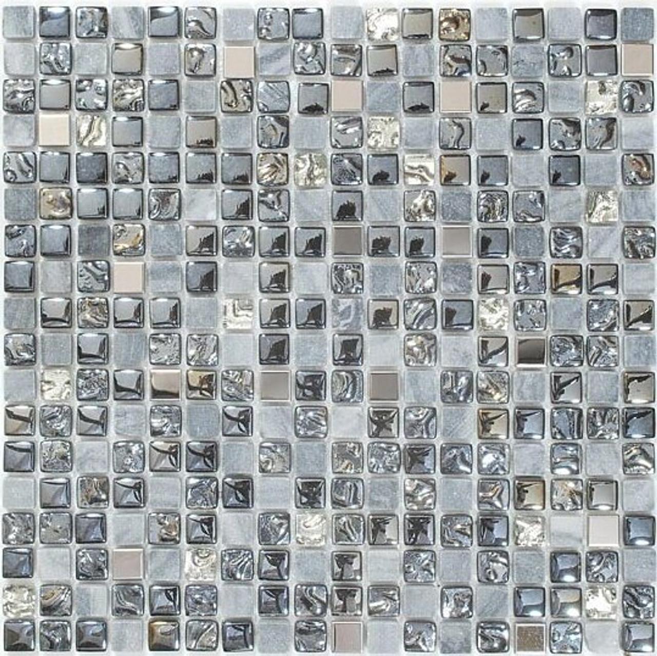 Bella Glass Tiles Opulence 5/8 x 5/8 Mosaic Series Starry Night