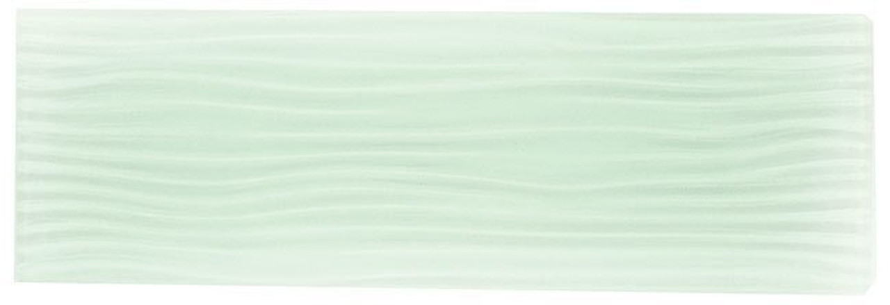 Bella Glass Tiles Crystile Wave Glass Subway 4 x 12 Bright White