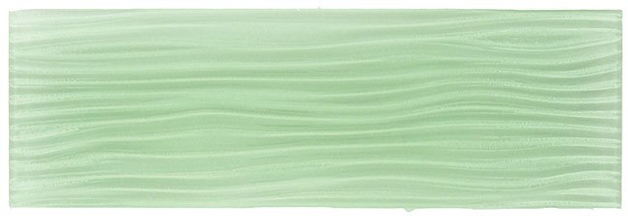 Bella Glass Tiles Crystile Wave Glass Subway 4 x 12 Ice Mist Glossy