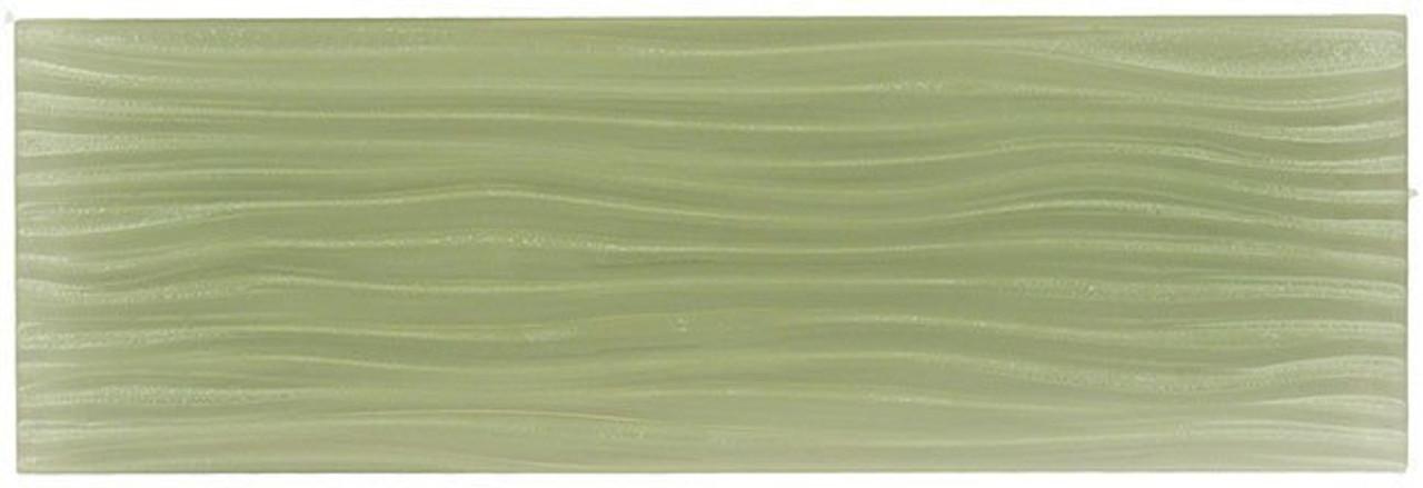 Bella Glass Tiles Crystile Wave Glass Subway 4 x 12 Fog