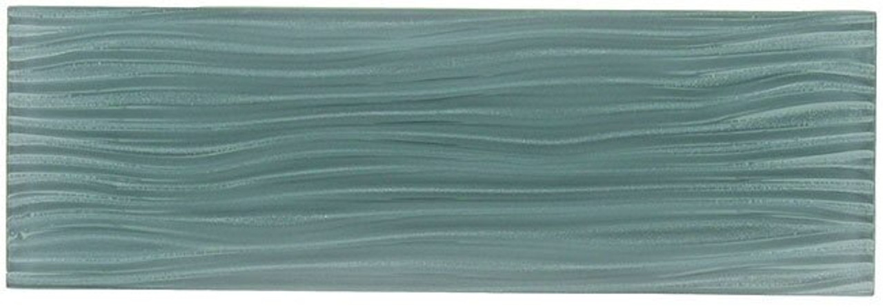 Bella Glass Tiles Crystile Wave Glass Subway 4 x 12 Eclipse
