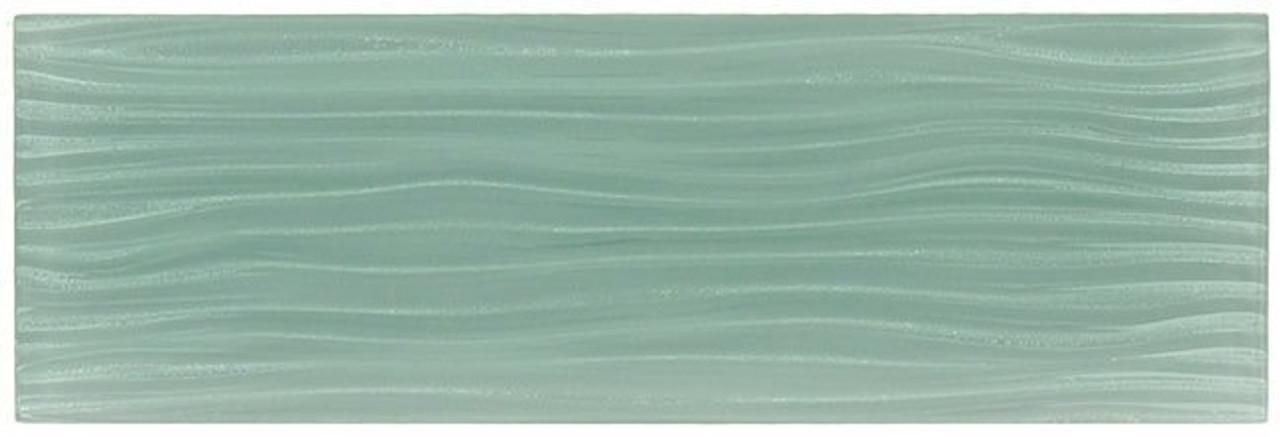 Bella Glass Tiles Crystile Wave Glass Subway 4 x 12 Gray Sky