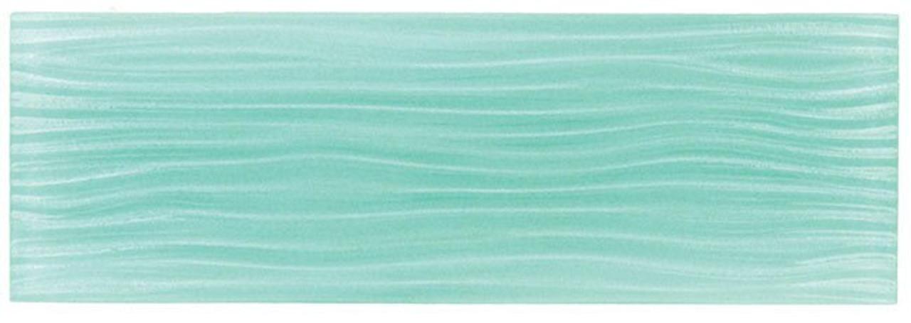 Bella Glass Tiles Crystile Wave Glass Subway 4 x 12 Soft Mint