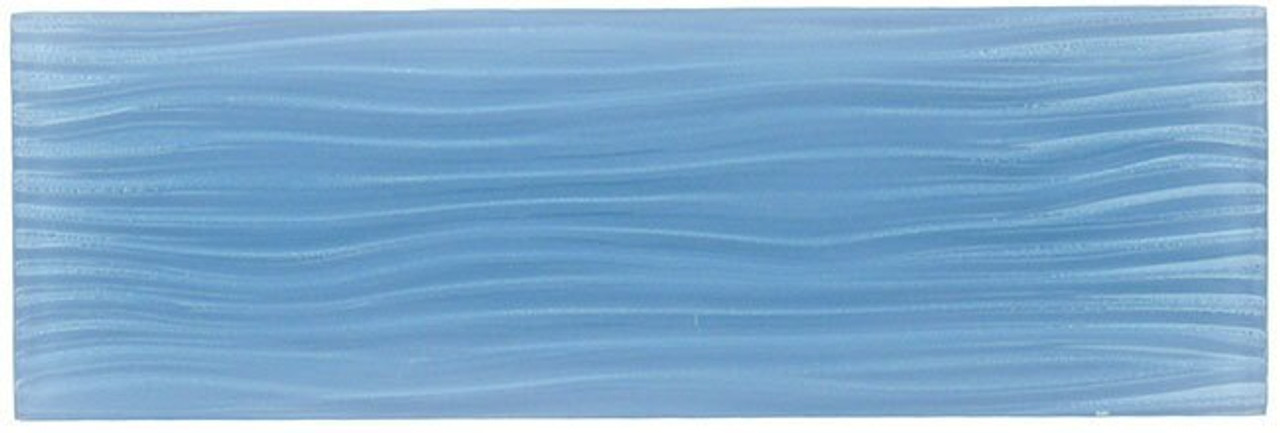 Bella Glass Tiles Crystile Wave Glass Subway 4 x 12 Pacific Ocean