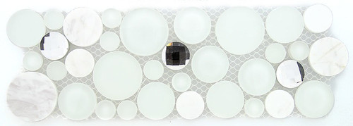 Bella Glass Tiles Symphony Bubble Series Listello Soap Suds