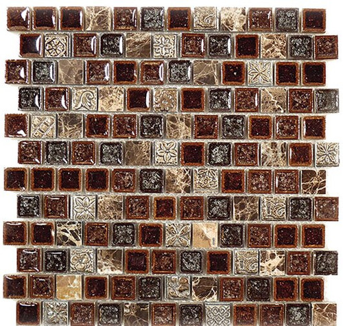 Bella Glass Tiles Tranquil Series Offset Crocodile Road