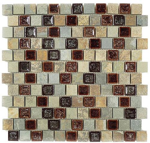 Bella Glass Tiles Tranquil Series Offset Shallow Reef