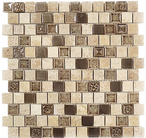 Bella Glass Tiles Tranquil Series Offset Ashen Forest