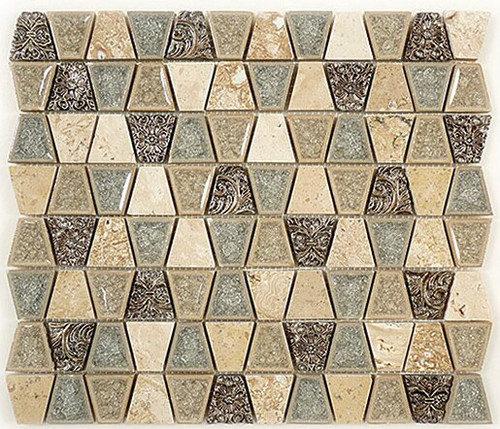 Bella Glass Tiles Tranquil Series Trapezoid Tender Harbor