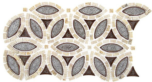 Bella Glass Tiles Tranquil Series Flower Roman Bloom