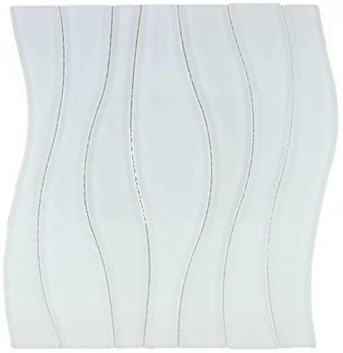 Bella Glass Tiles Waterfall Series White Rose