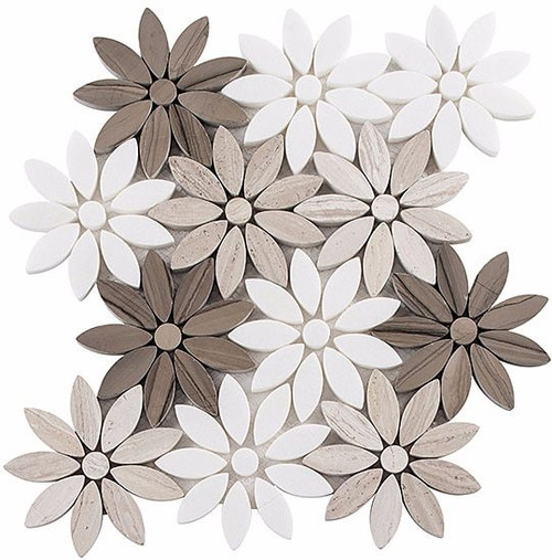 Bella Glass Tiles Bouquette Series Fresh Bouquet