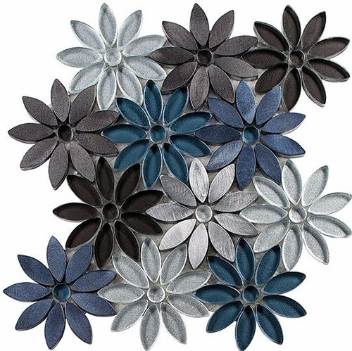 Bella Glass Tiles Bouquette Series Hydrangea Thicket
