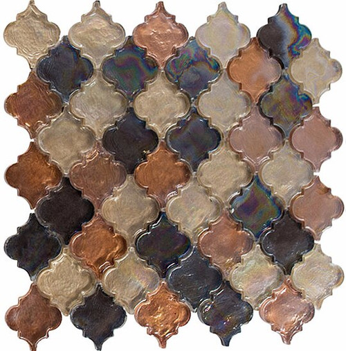 Bella Glass Tiles Dentelle Series Desert Range Glass Mosaic