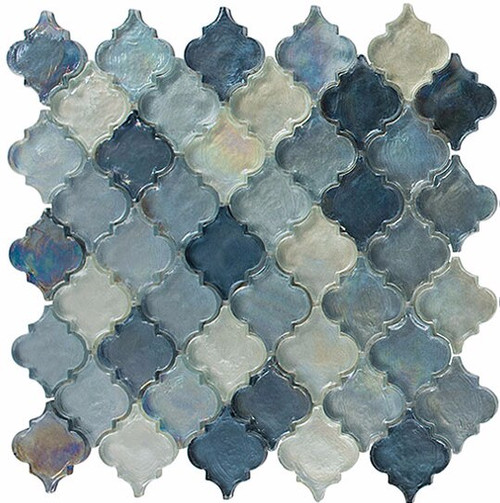 Bella Glass Tiles Dentelle Series Heavenly Lagoon Glass Mosaic