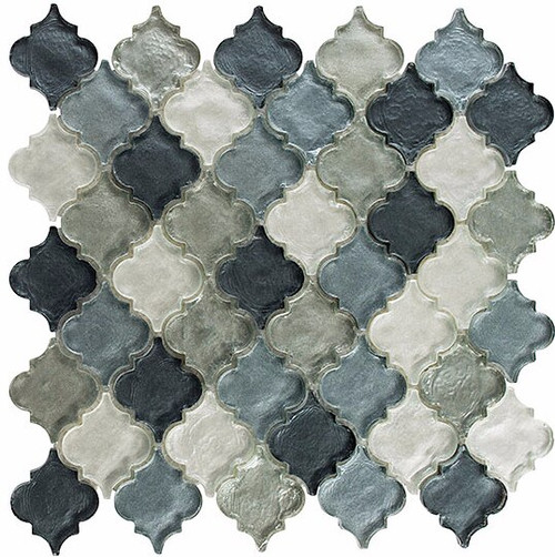 Bella Glass Tiles Dentelle Series Waterfall Grey Glass Mosaic DTL-3006