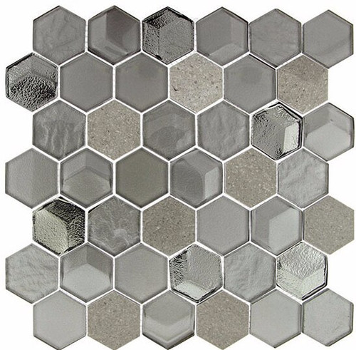 Bella Glass Tiles Queens Lair Frosted Hive